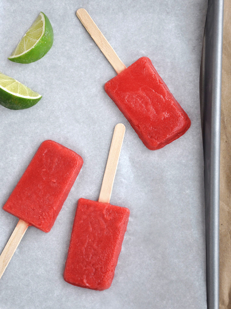 strawberry margarita ice pops