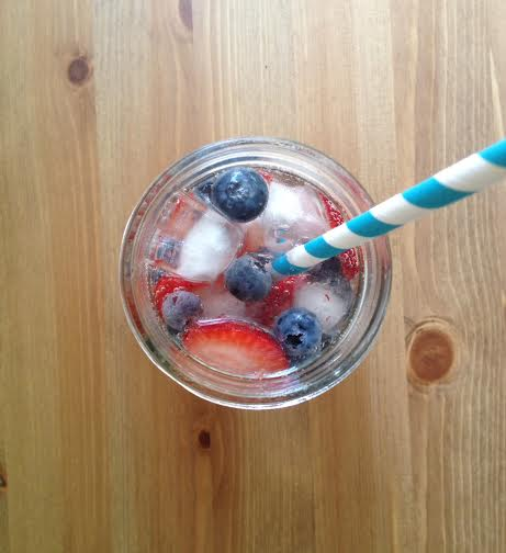 red white blue mocktail
