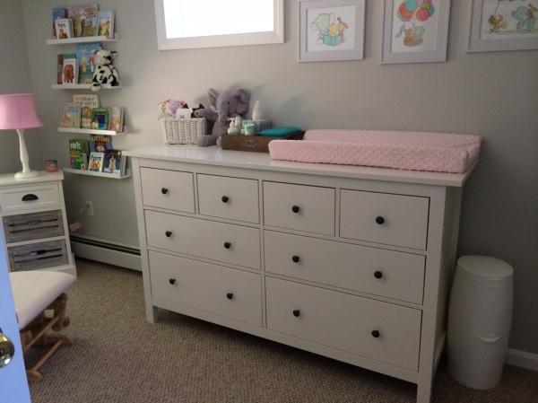 dresser in nursery